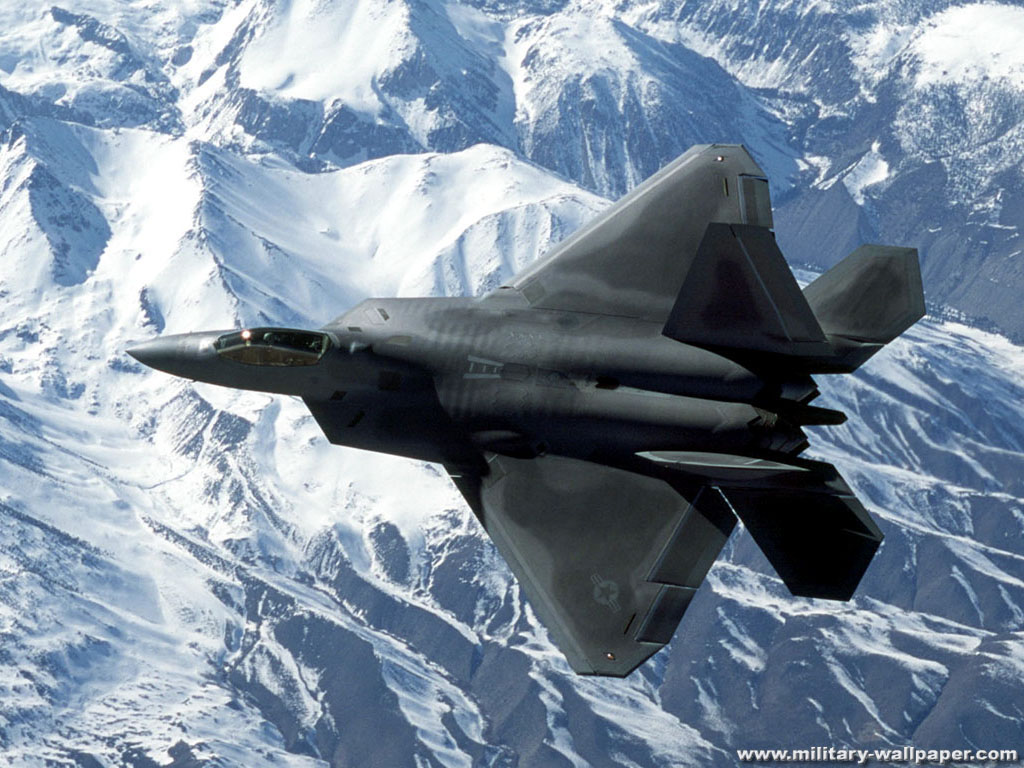 F 22 Raptor Military Jet Fighter Wallpaper