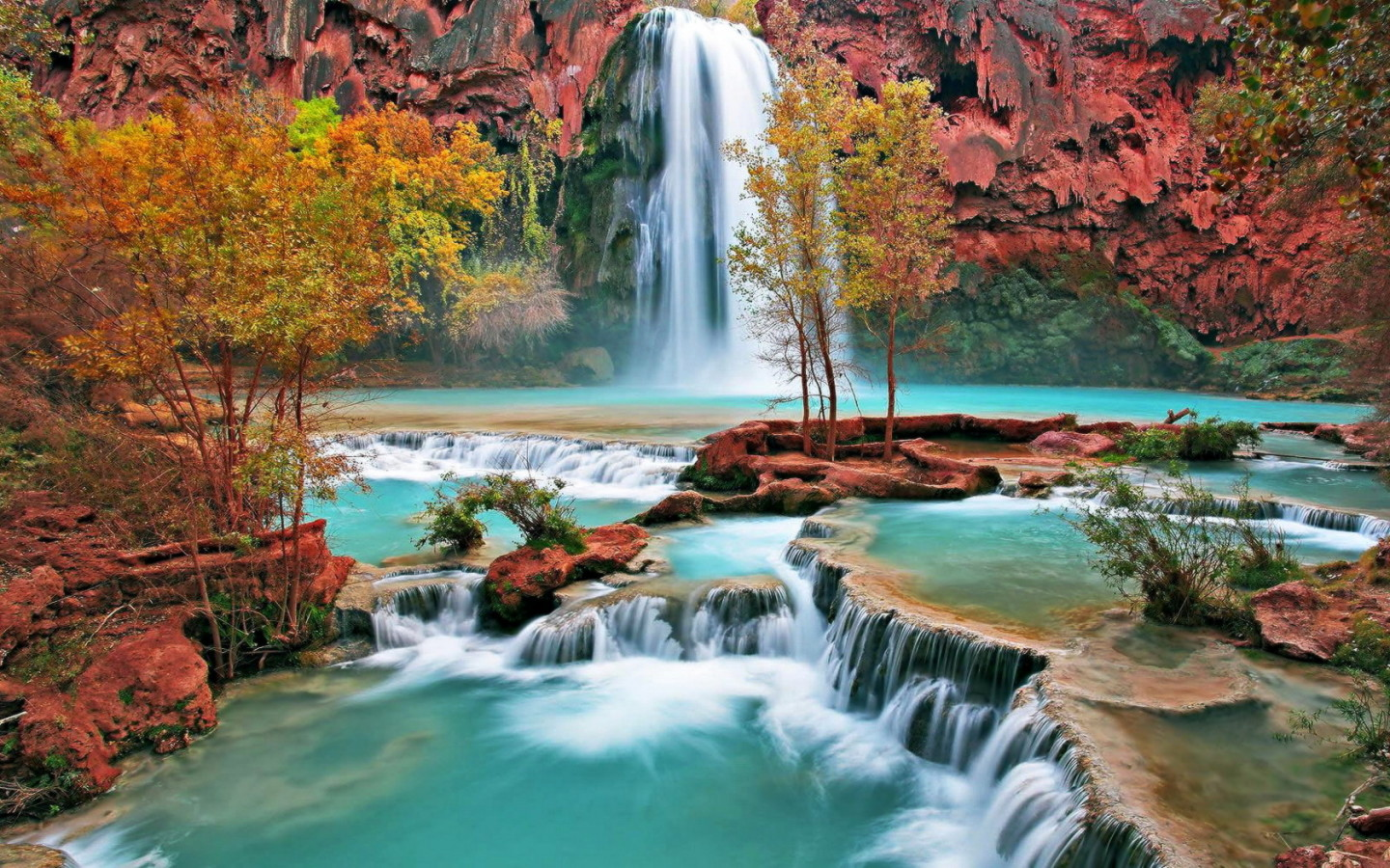 Nature images beautiful cool wallpapers - Nature wallpaper of waterfall ...